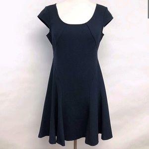 LOFT Navy flare dress
